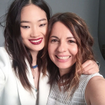 That set lighting selfie featuring model @iamhyunjishin and Swarovski Creative Director @nathaliecolin_.